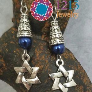 "Artist Created ""Star of David"" Earrings"